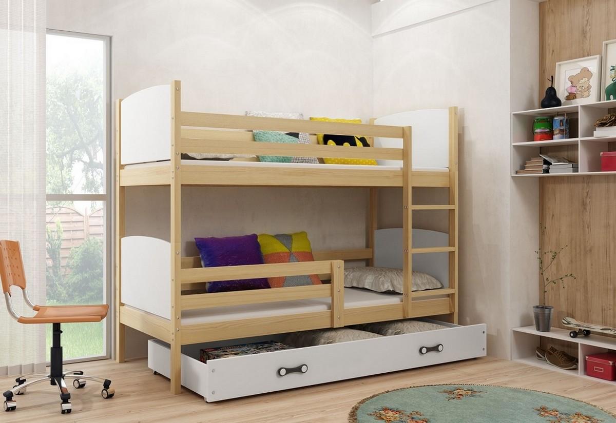 bcf9d3274ed6 Detská poschodová posteľ TAMI + ÚP + matrac + rošt ZADARMO ...