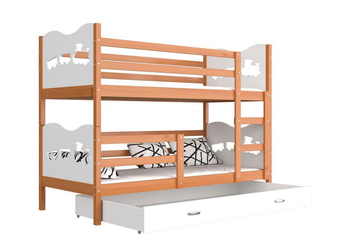 1cc9c54484c0 Detská poschodová posteľ MAX MASÍV + rošt + matrac