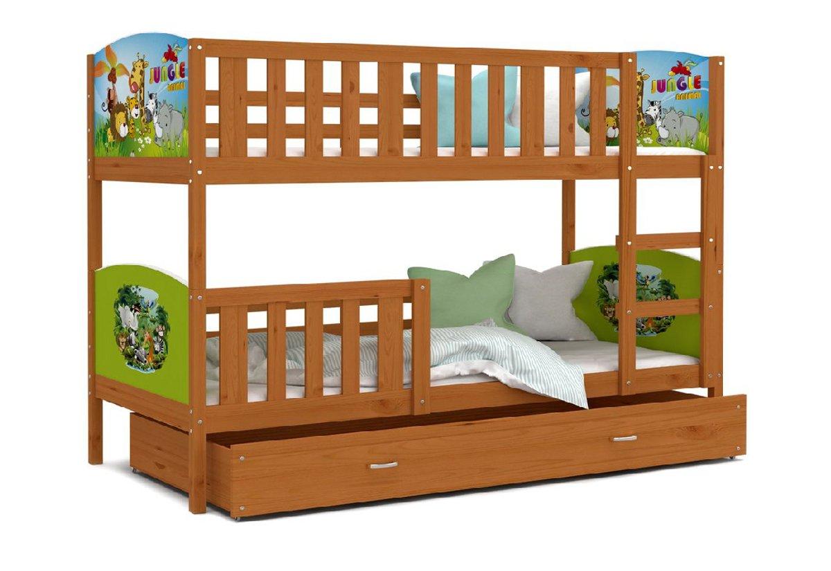 b3c08ed30243 Detská poschodová posteľ TAMI s potlačou