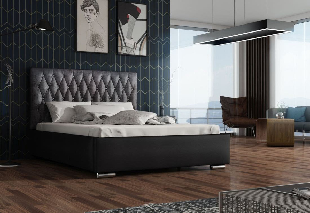 Čalúnená posteľ SIENA + rošt + matrac 140x200  96ef77d373